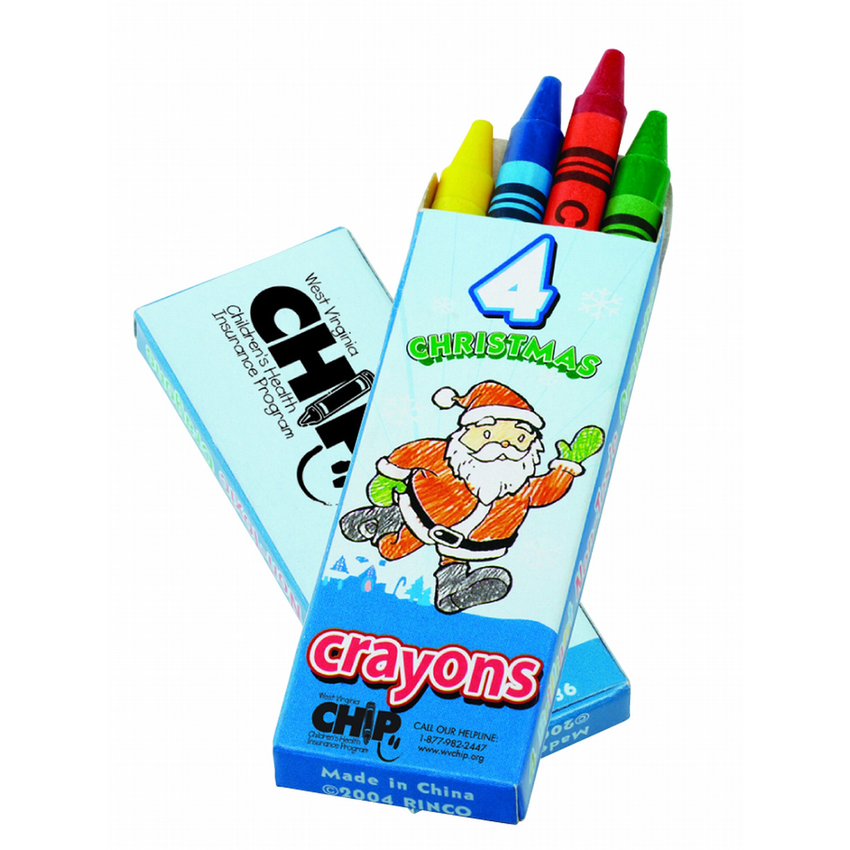 4-Count Christmas Crayon Pack