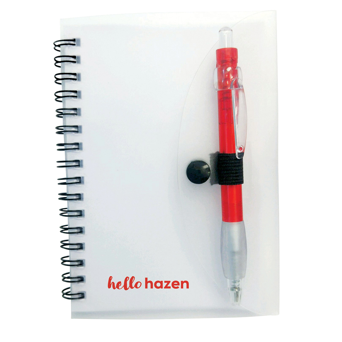 Spiral Notebook with Cardinal Pen