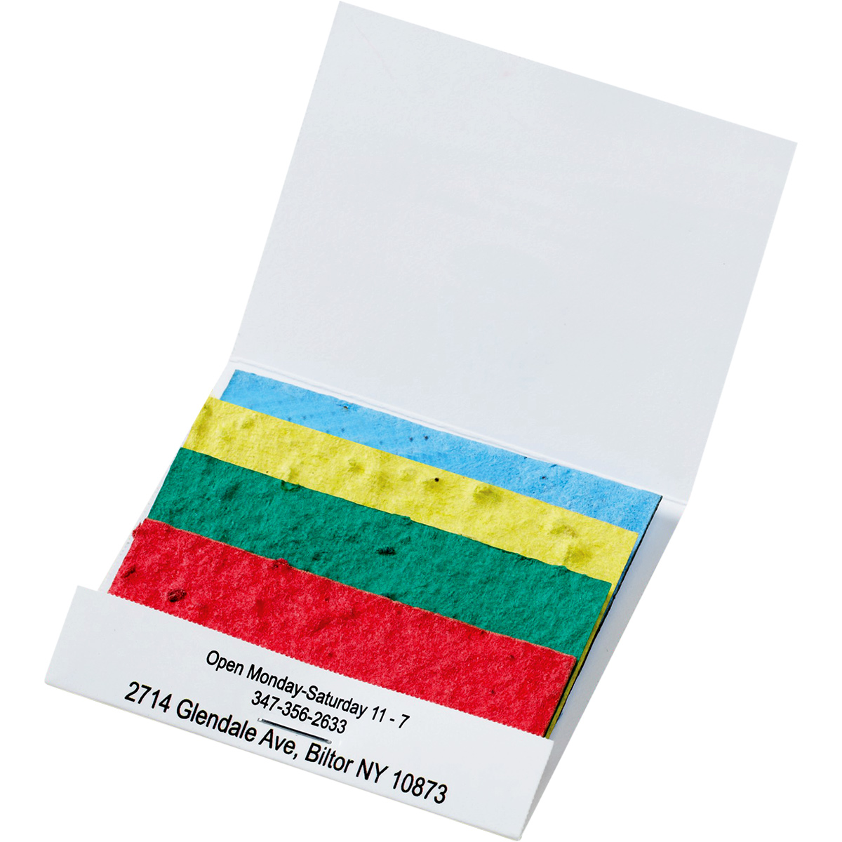 Seed Paper Matchbook: Color Stack with Wildflower Seeds