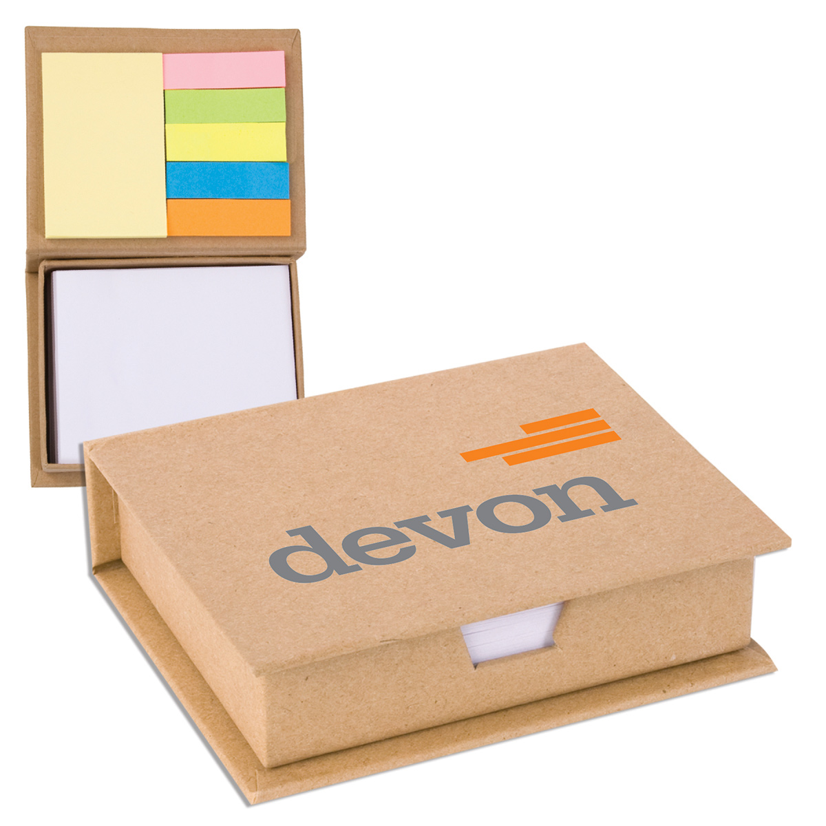 Eco-Recycled Memo Case with Sticky Notes