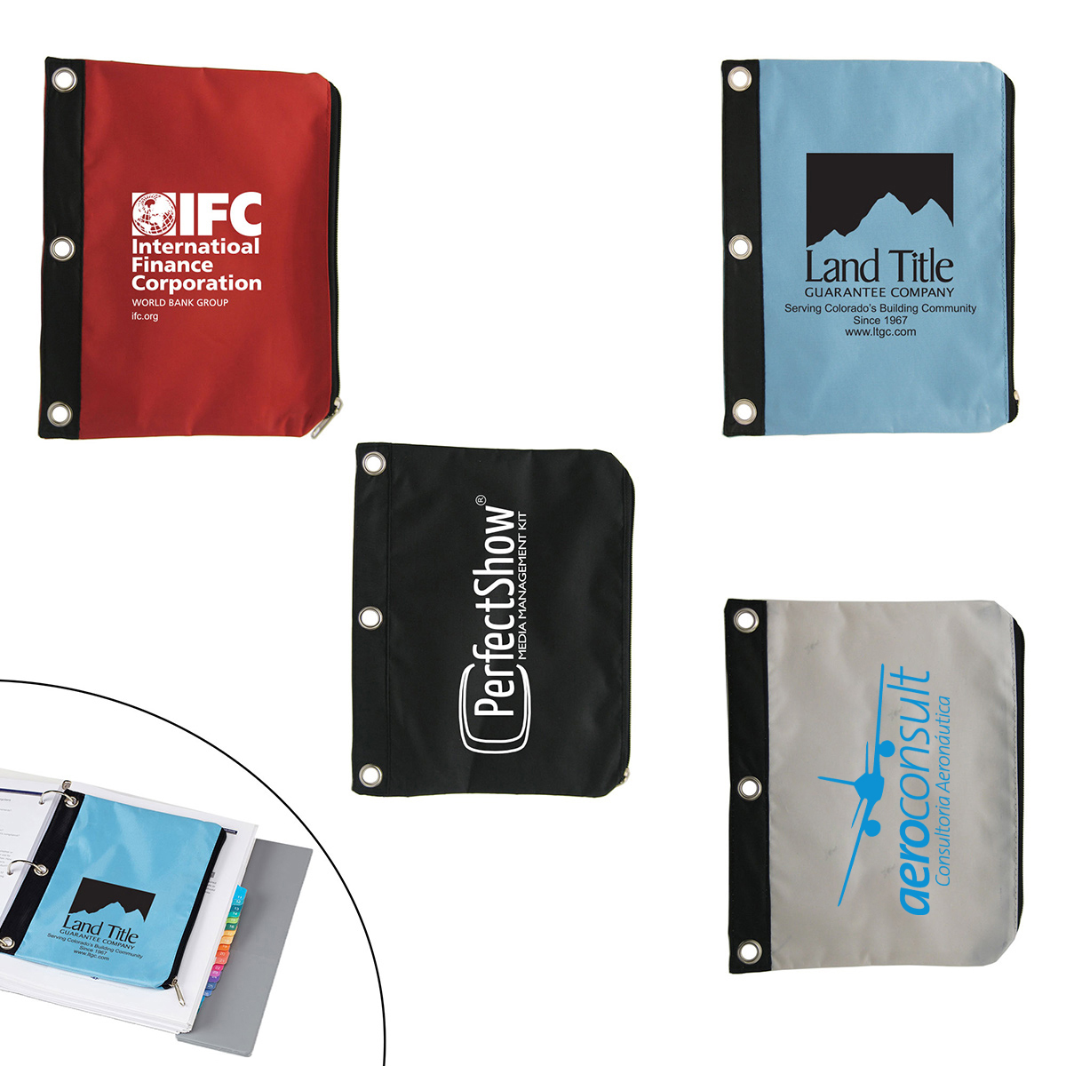 Zippered Pouch for 3-Ring Binder
