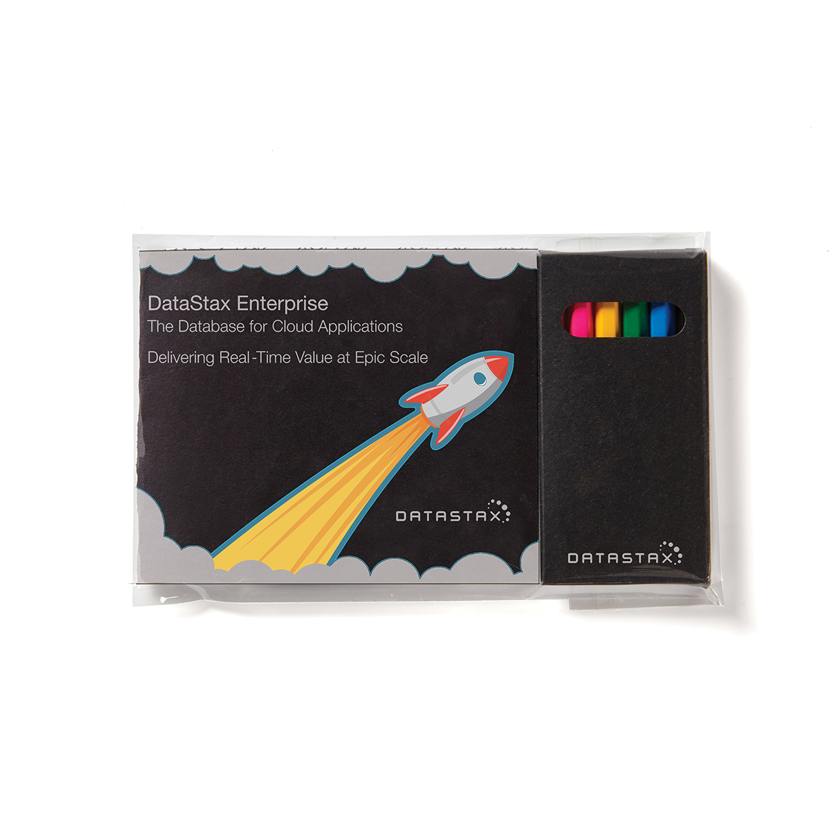 Black Custom Cover Adult Coloring Book & 6-Color Pencil Set To-Go