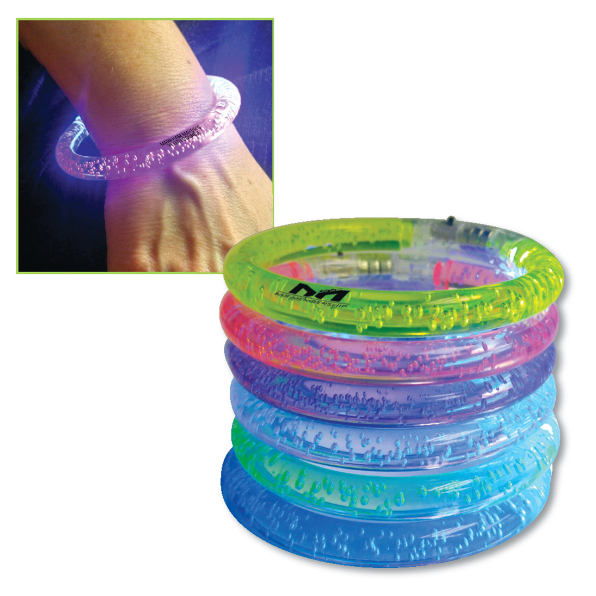 Flashing LED Bubble Bracelet