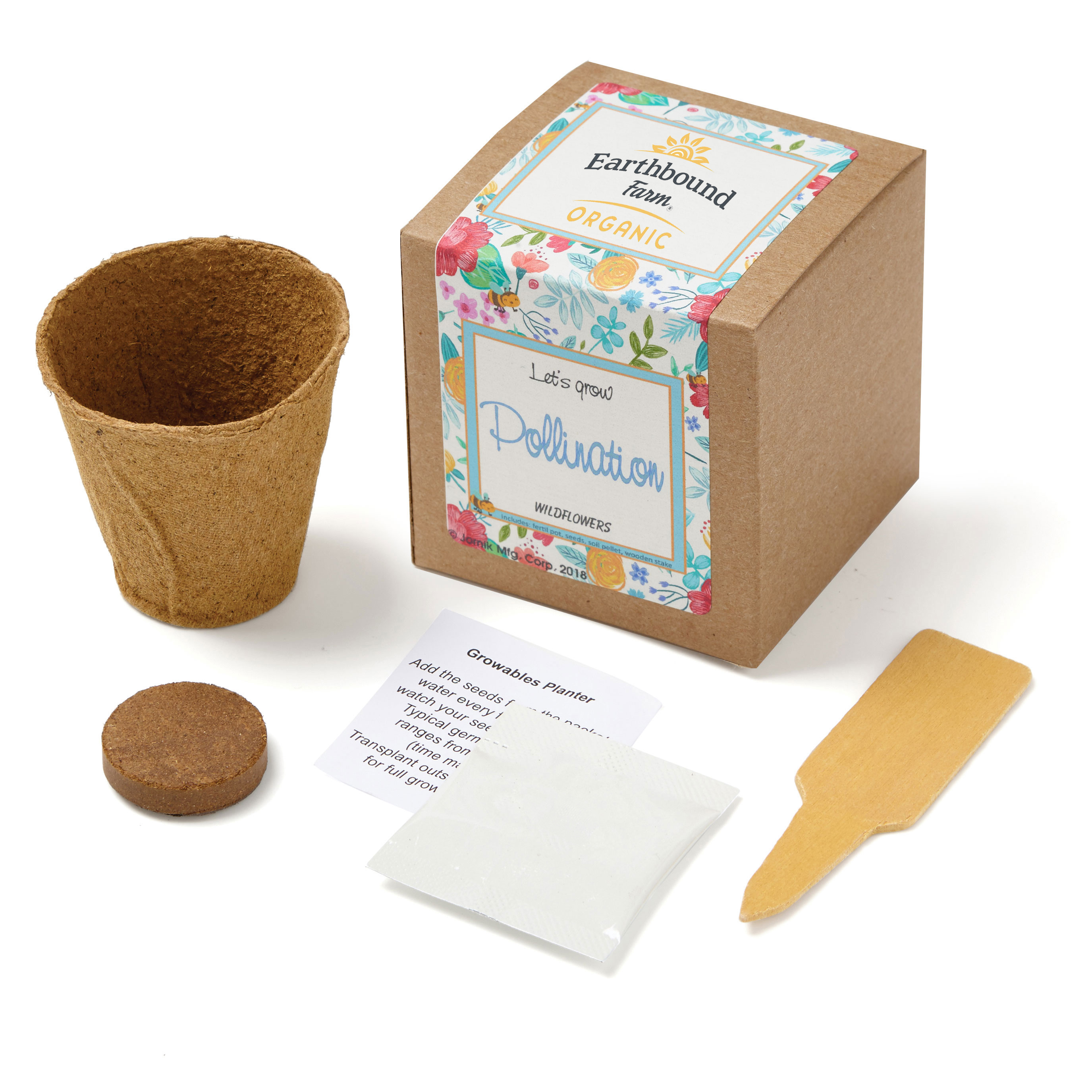 Wildflowers Growables Planter in Kraft Gift Box