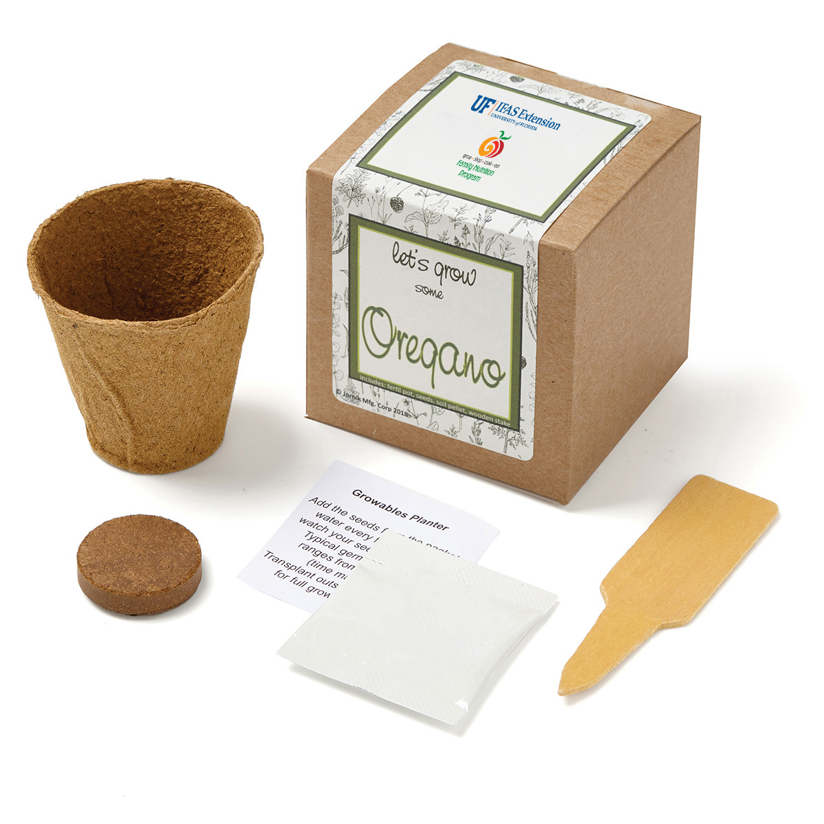 Oregano Growables Planter in Kraft Gift Box