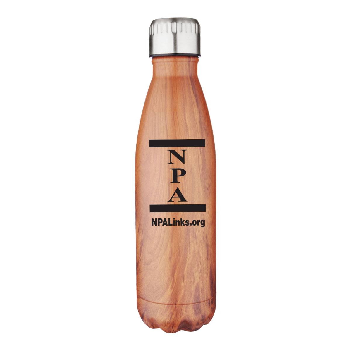 Stainless Steel and Copper Lined Vacuum Wood Bottle