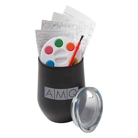 Adult Paint Set and Wine Tumbler