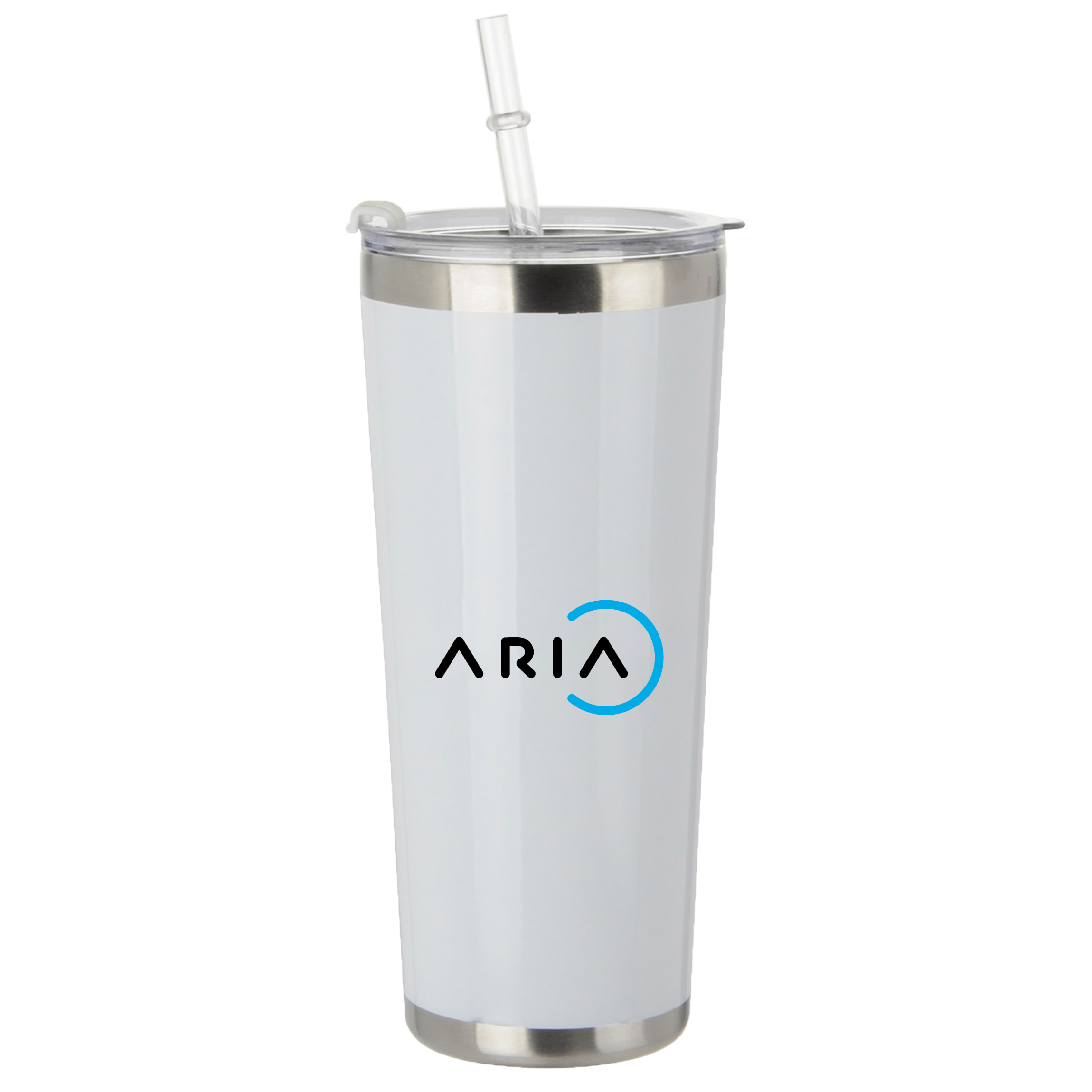 20 Oz Stainless Tumbler with Straw